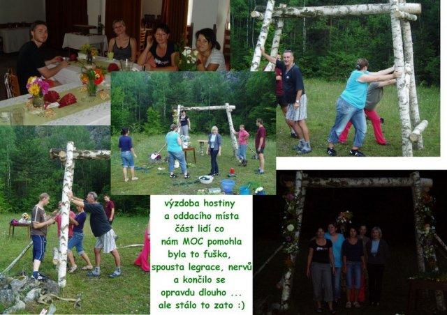 Naše svatba 13.8.2010 - část lidí co nám hodně pomáhali