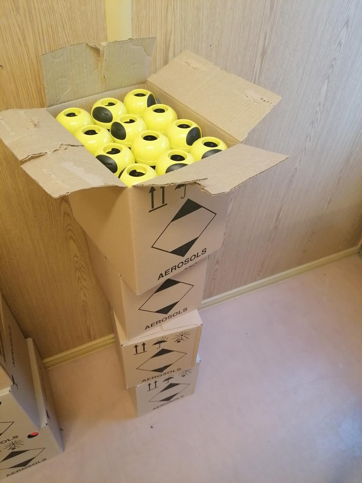 Krabica značkovacích  sprejov Soppec - Obrázok č. 1