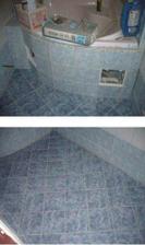 uz mame oba otvory k odpadu i ventilum, oblozenou vanu a vysparovanou podlahu.Stale obkladame a sparujeme