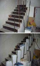 začínáme s obezdívkou schodiště