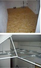 nova podlaha v patre, novy podhled v prizemi