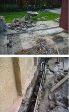 priprava na posuvnou branu...odkopavame stary beton