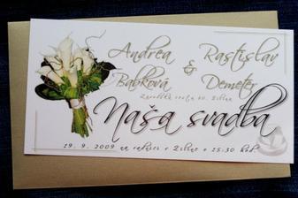 naše svadobné oznámko