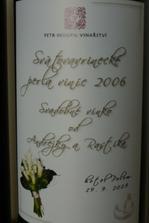 svadobné vínko červené