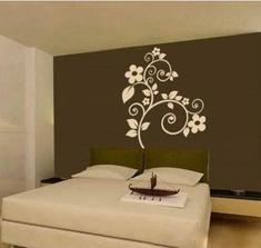 vybraná šablona na zeď do ložnice