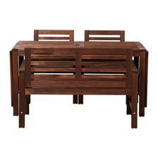 Ikea ÄPPLARÖ; uz mame, jen stul mame starsi typ, ktery se rozklada pomoci sklenene desky; a mame lavice dve