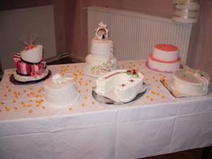 všetky torty, ktoré sme dostali