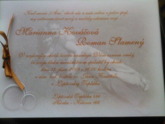 Majka kovačova{{_AND_}}Roman slameny - svadobne oznamenie