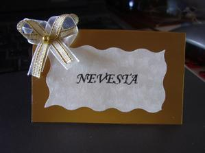 Takto vyzerajú menovky, no zatiaľ ich robím na kamarátkinu svadbu :-(((
