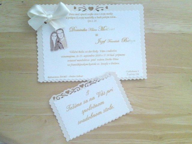 Už sa blíži náš deň D - 25.9.2010... :) - Oznámenia a pozvánky hotové - vlastná výroba