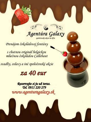 Cokoladova fontana pozicanie 10eur... - Obrázok č. 1