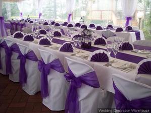 Jisté je, že svatba bude do fialova=)