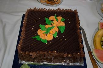 náš dort - byl naprosto úžasnej