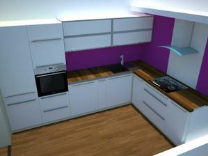 návrh kuchyně, rozložení spotřebičů a barevné sladění