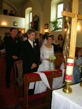 sobáš v Trnovci v kostolíku
