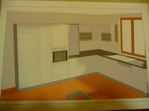 Konečný návrh naší kuchyně,jen lednička nebude věstavěná