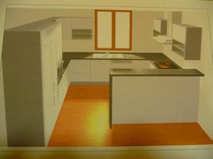 Konečný návrh naší kuchyně
