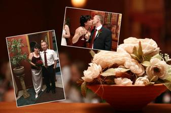 Fotografka nám spravila aj takéto pekné koláže z každej zaujímavej časti svadby, ktoré sme potom venovali svadobčanom na pamiatku.