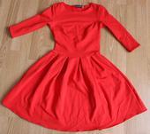 Červené šaty, nenosené, XS