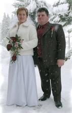 pred foto - studiom, aby sme si pamätali, že svadba bola v zime