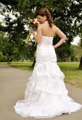 Ručne šité svadobné šaty, 40
