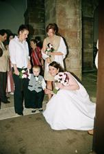 nejmladší účastník svatby (tady mu je 2,5 roku)