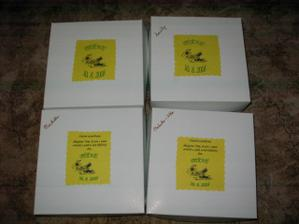 krabičky s poděkováním na cukroví
