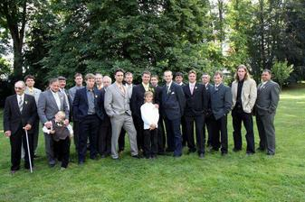 pánské osazenstvo svatby
