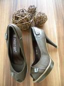 Čokoládovo-hnedé topánky na platforme , 38