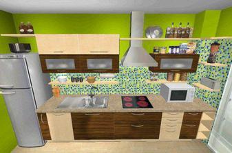 tento moj navrh kuchyne je uz snad finalny (program ALNO AG kitchen planner)