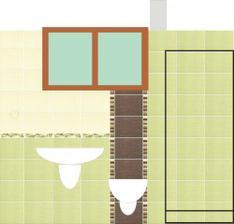 moj navrh spodnej kupelne (1,2 x 2,75m) Bambus, len ta zelena bude tmavsia