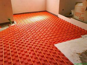 podlahove kurenie - kuchyna a jedalen