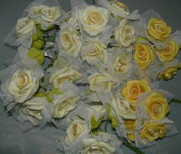 To sú naše ružičky na pierka