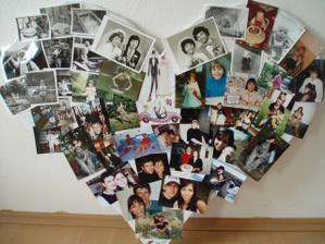 vyrobene srdce z fotek