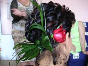 účes-kyti ve vláskách a apk,že nejde z krátkých vlasů udělat krásný  účes ,-)