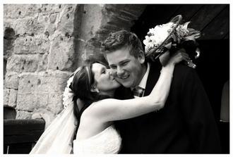 Štastní novomanželé...Fotka, která mluví za vše, děkuji Leni:)))
