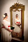 Svatební šaty velikost 46/50 + doplňky, 48