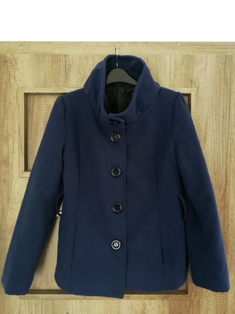 Modrý flaušový kabátek - Obrázek č. 1