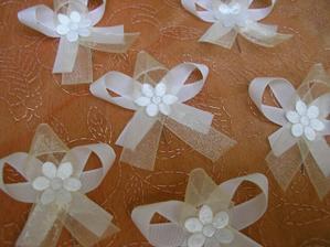 vývazky pro svatebčany - vlastnoručně vyráběné :-)