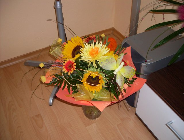 Pripravy na 10.10 2009 II. - Nase prve pukety kvetou:-)))