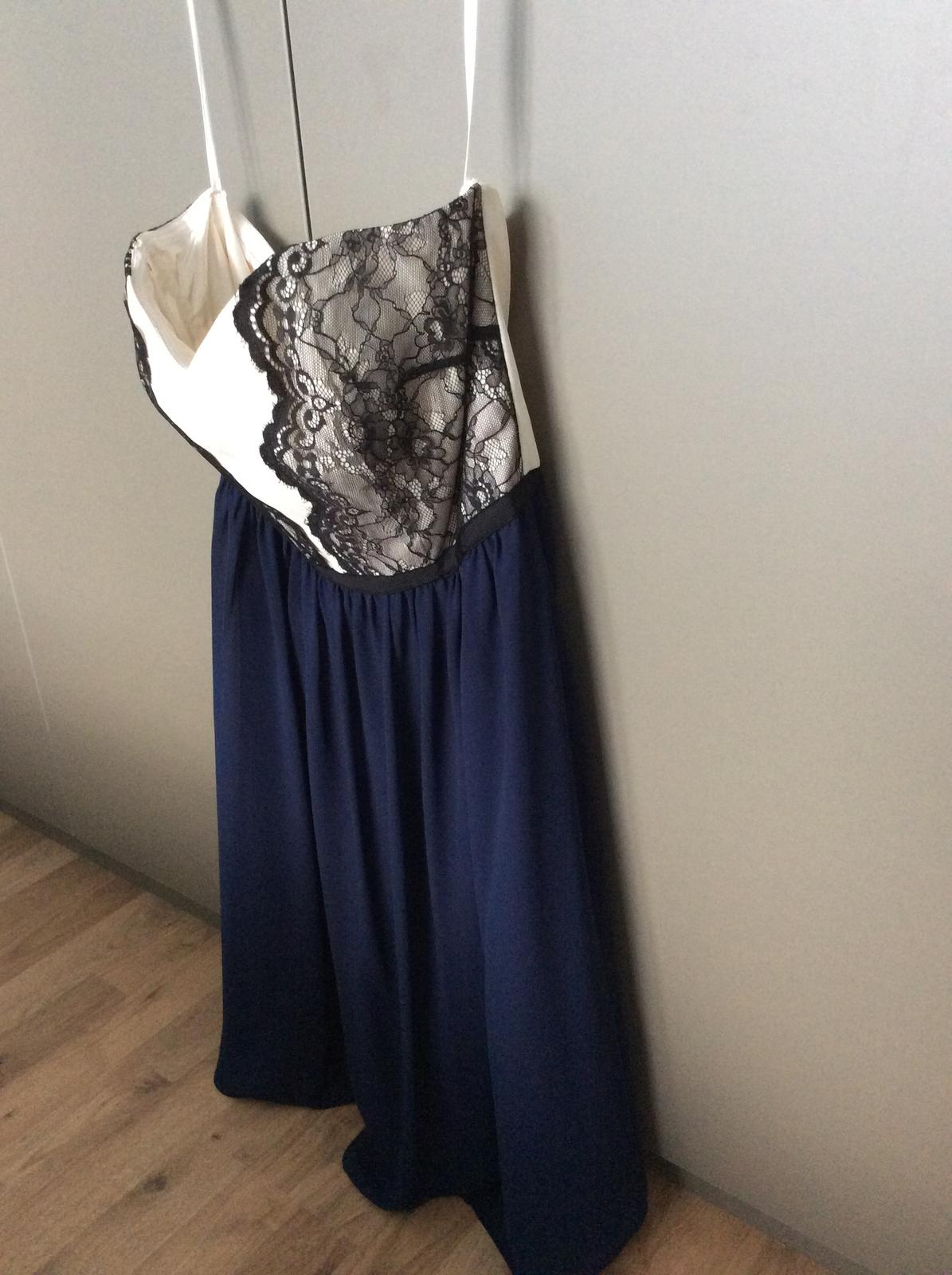 Tmavomodré spoločenské šaty - Obrázok č. 3