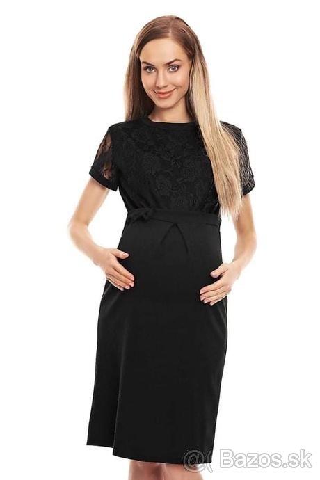 Spoločenské šaty pre tehotné S/M - Obrázok č. 1