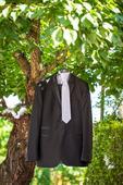 Čierny svadobný/spoločenský oblek , 52