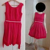 Červené retro šaty s puntíky, vhodné pro družičky, 36