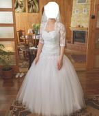 Tilové svadobné šaty, 36
