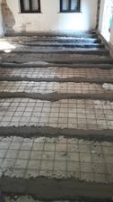 nový základný podkladový beton s výstužou v celom dome