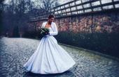 Žakárové svatební šaty s kapsami, 34