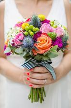to je tak, když necháte floristce volnou ruku.....