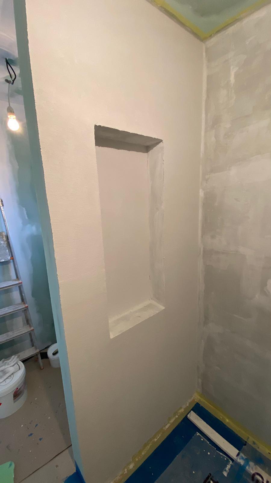 stěrka v první koupelně v procesu :-)) - Obrázek č. 1