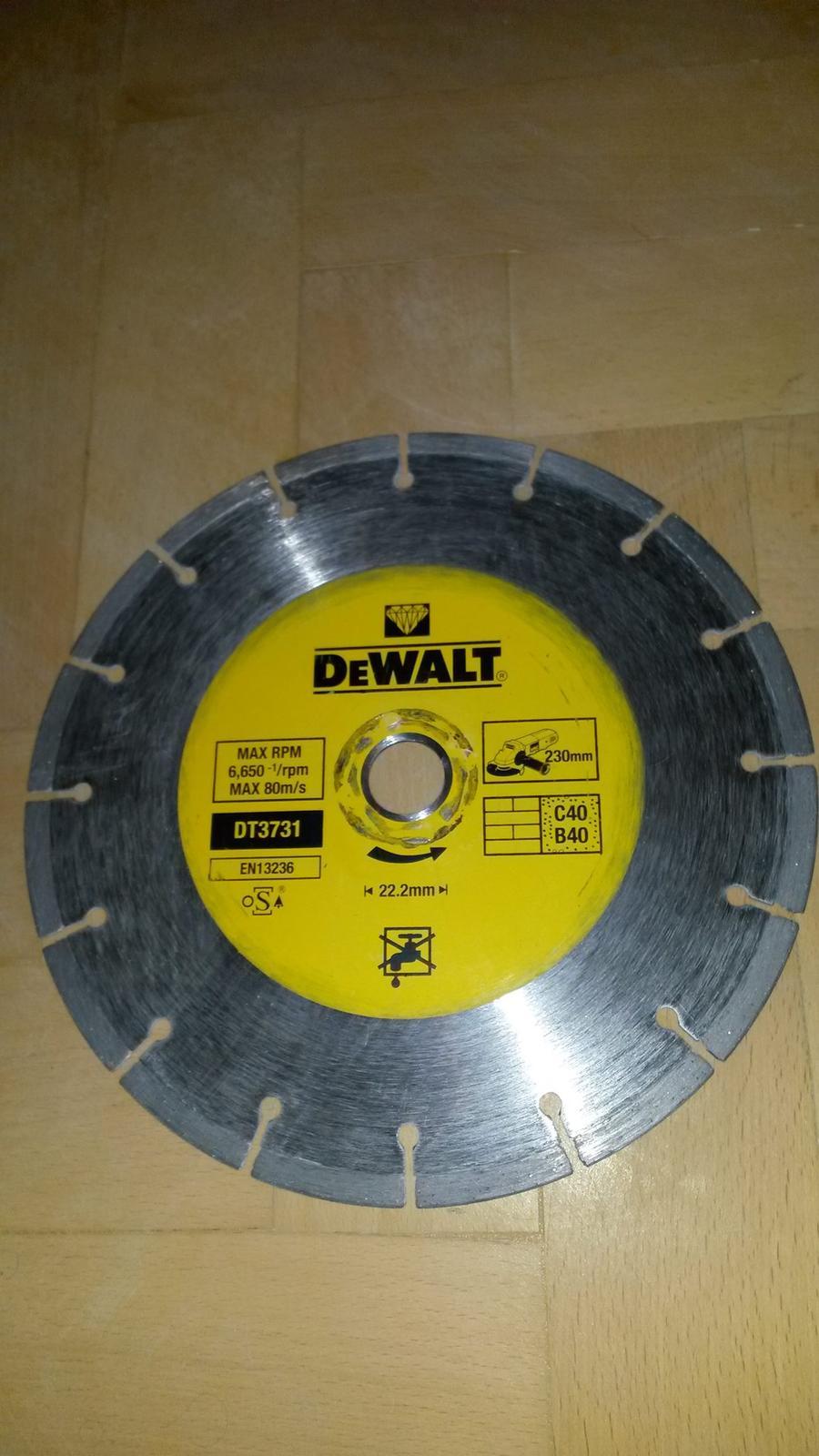 Diamantovy kotuc rezny - DeWalt 230 mm - Obrázok č. 1